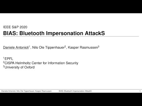 BIAS: Bluetooth Impersonation AttackS