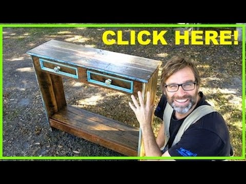 How to Build a Hall Table. Using Recycled Pallet Wood.