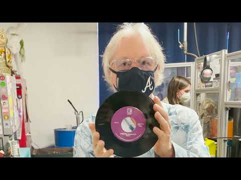 R.E.M.'s Mike Mills at Kindercore Vinyl in Athens, GA