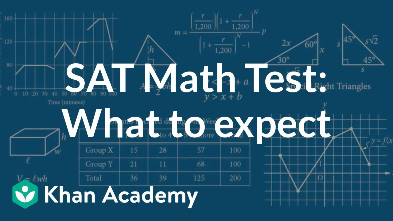 The SAT Math Test: What to expect (video) | Khan Academy