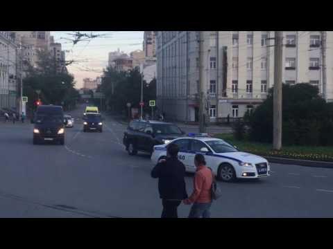 Президентский кортеж в Екатеринбурге