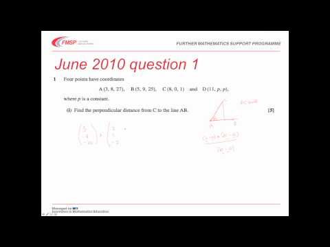 FMSP Revision Video: MEI FP3 - Vector Geometry