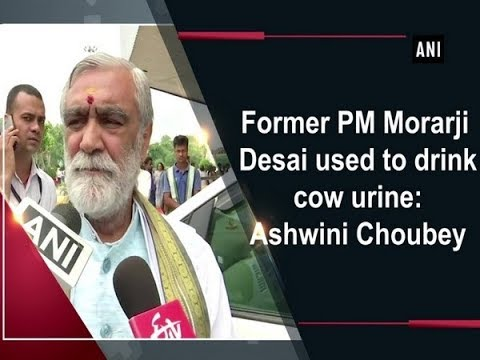 Former PM Morarji Desai used to drink cow urine: Ashwini Choubey