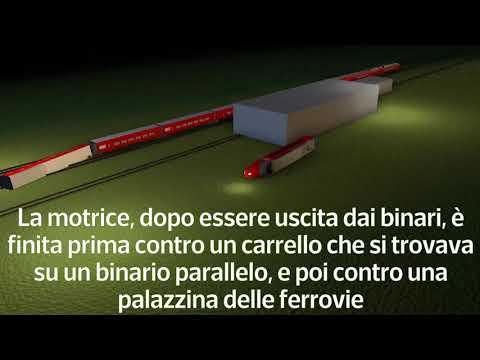 Treno deragliato, la dinamica in 3D dell'incidente di Ospedaletto Lodigiano