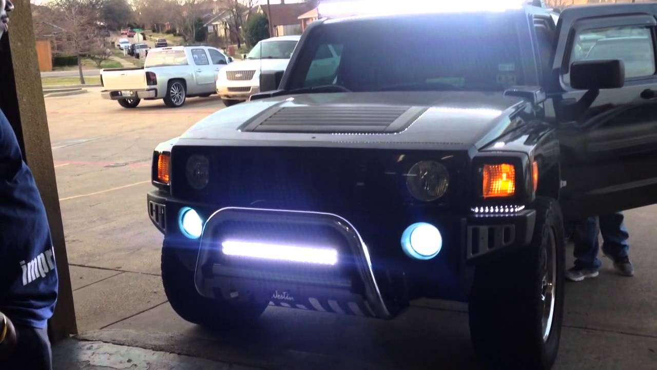 Auto Impressions Hummer H3 Led Bars Top Amd Bottom Youtube