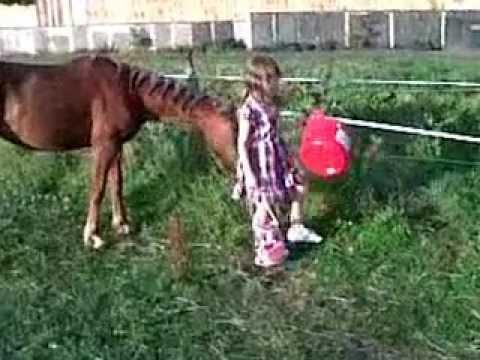 alisha and her pony angel :)