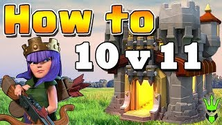 HOW TO ATTACK TH10 vs TH11 - Queenwalk Bowlers & Valks Strategy - Clash of Clans (TH10 War Strategy)