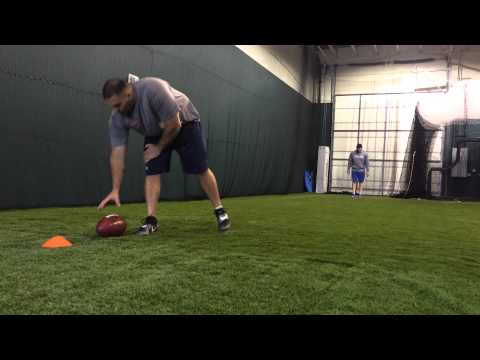 NFL Free Agent Long Snapper, Taylor Jordan, workout with Matt Wigely in Reno, NV 01/31/14