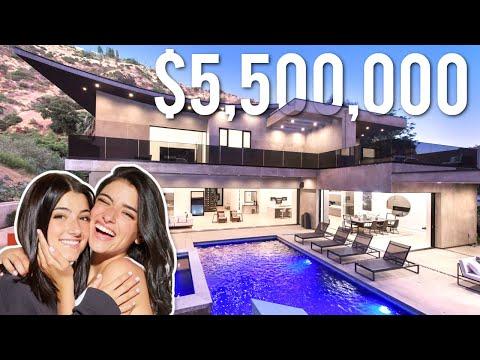 INSIDE CHARLI & DIXIE D'AMELIO'S $5.5 MILLION DOLLAR MANSION