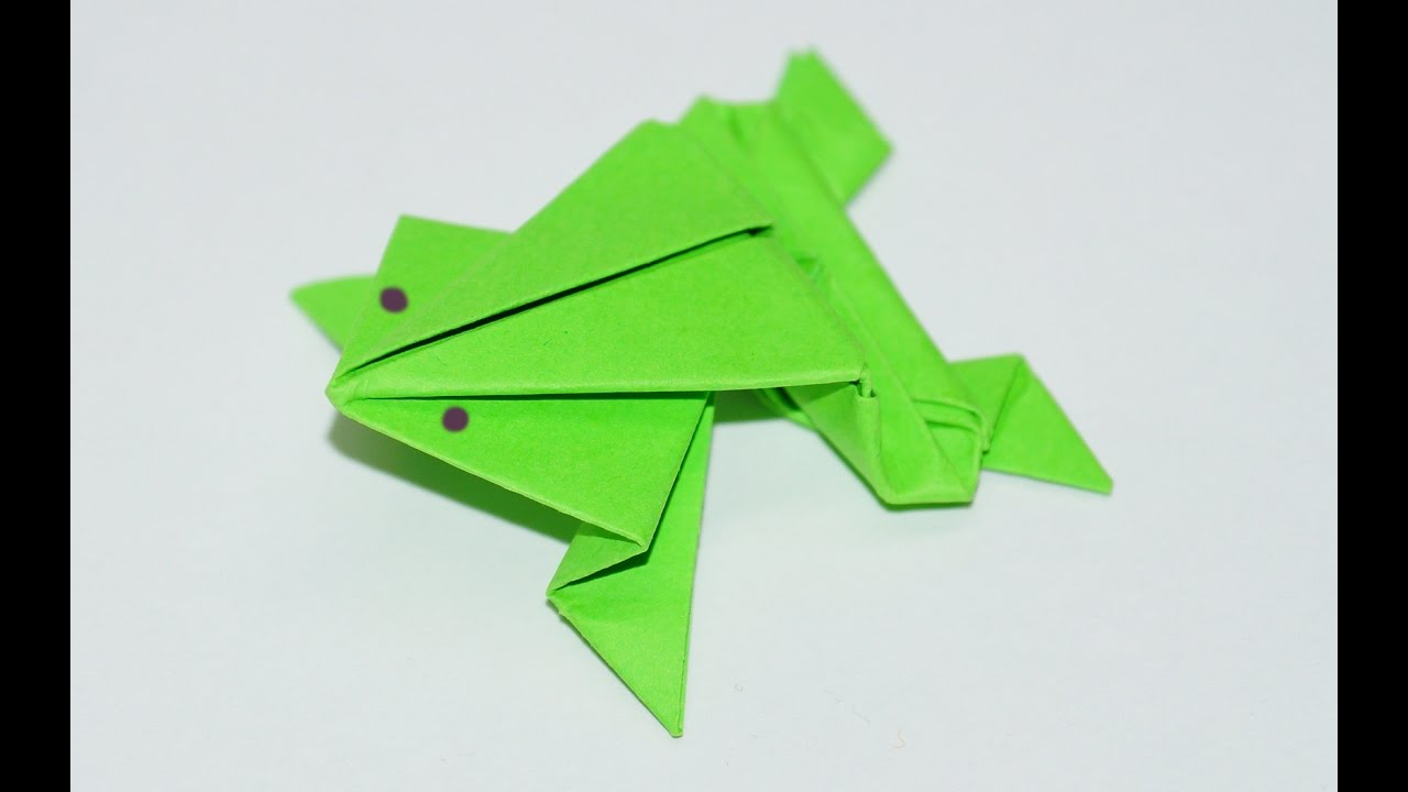 Origami frog traditional model diy beauty and easy youtube origami frog traditional model diy beauty and easy jeuxipadfo Images