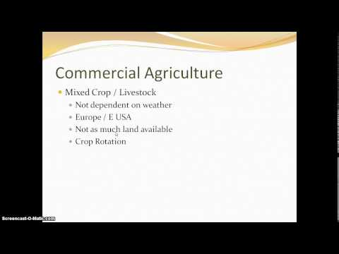 AP Human Geography - Commercial Agriculture: Mixed Crop and Livestock and Ranching