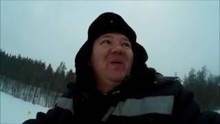 первая рыбалка 2017 первое января. The first fishing 2017 January 1. рыбалка в Карелии