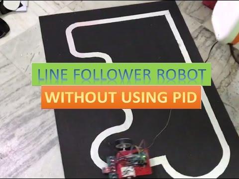 LINE FOLLOWER ROBOT [ WITHOUT USING PID ALGORITHM ] using digital algorithm