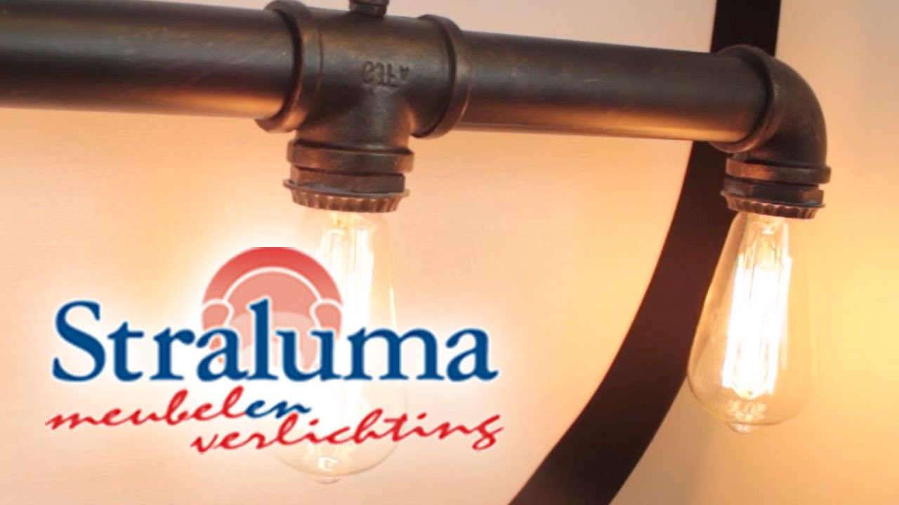 Industrial tube lichtbarhanglamp bruin keuken straluma