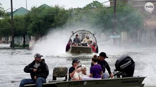 The Cajun Navy is in Texas to help rescue those affected by Tropical Storm Harvey