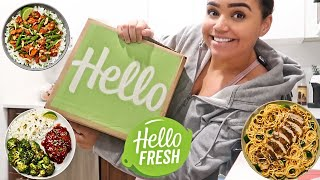 TRYING A WEEK OF HELLO FRESH *not sponsored* l Is it actually good? l Cook all of my meals with me