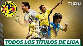 ¡103 años del Club América! Todos los títulos de Liga | TUDN