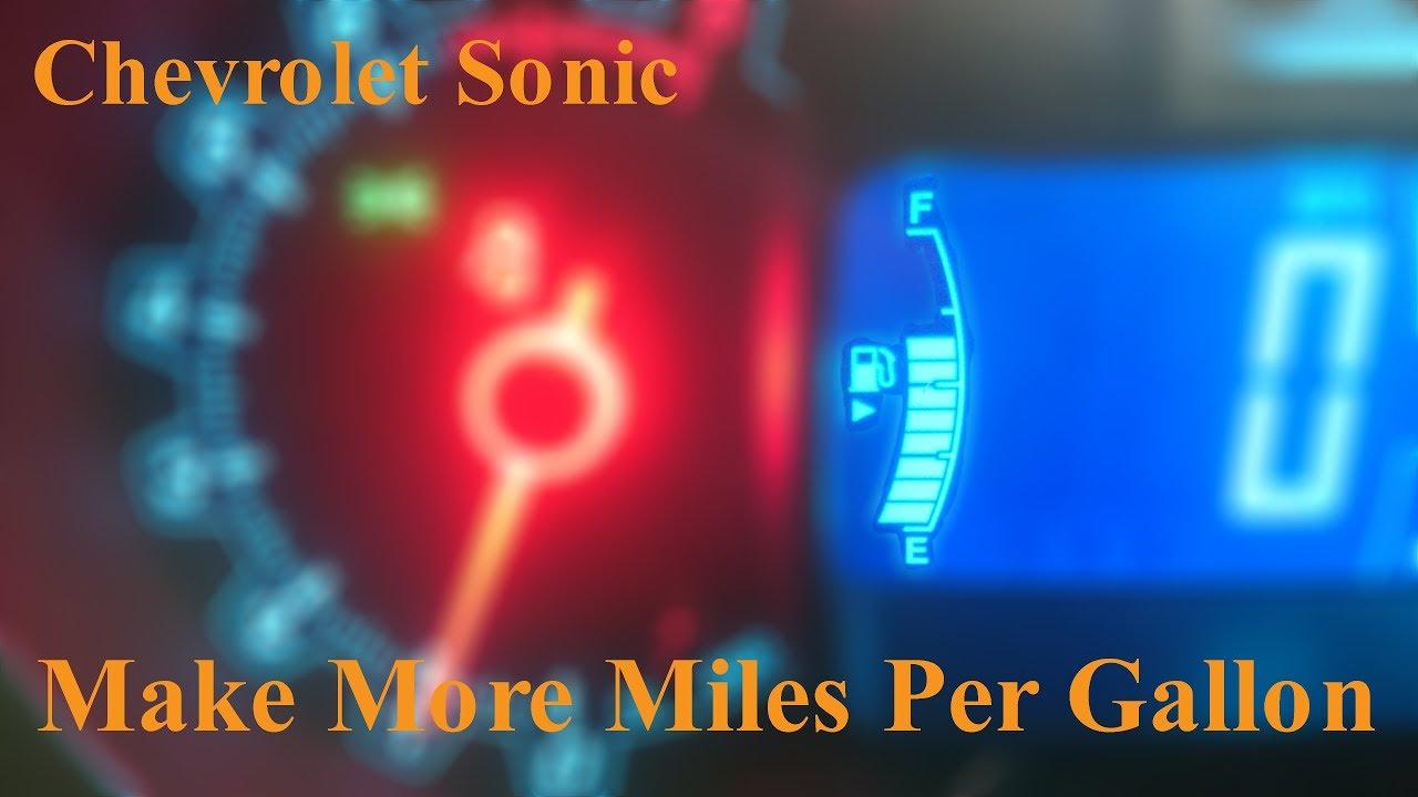 Chevrolet Sonic Make More Miles Per Gallon
