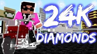 24k magic diamonds minecraft bruno mars parody full video pop hip hop lyrics catscraft