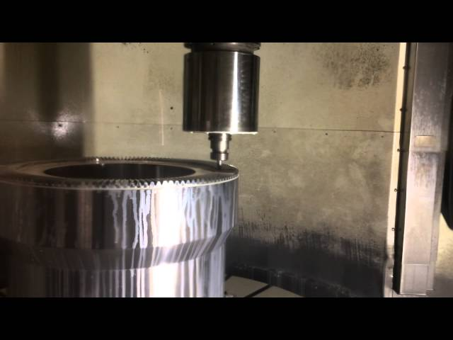 Gear teeth machining with profile mill on CNC machine