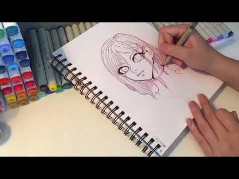 Artist Loft Dual Tip sketch markers Review [Darling in the FRANXX 015]