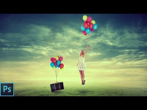 Flying Girl | Photo Manipulation - Photoshop Tutorial