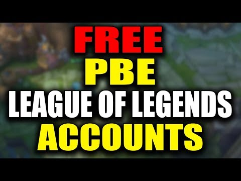 FREE PBE ACCOUNT INSTANTLY! PBE SIGN UPS ARE OPEN! - league of Legends
