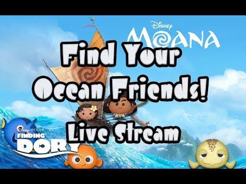 Line Disney Tsum Tsum -  Find Your Ocean Friend Live Stream!