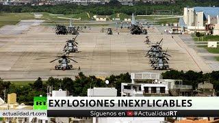 Se registran múltiples explosiones en una base militar estadounidense en Japón