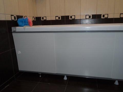 Монтаж раздвижного экрана под акриловую ванну