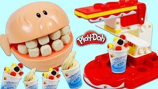 Feeding Mr. Play Doh Head McDonalds McFlurry Ice Cream Dessert!