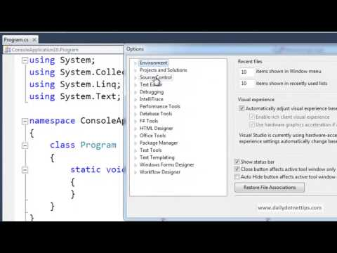 Tip 1 :- How to keep track of Miscellaneous files efficiently in Visual Studio ?