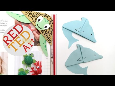 Easy Dolphin Bookmark (Paper Crafts)