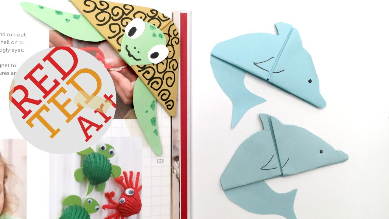 Easy Dolphin Bookmark (Paper Crafts) - YouTube