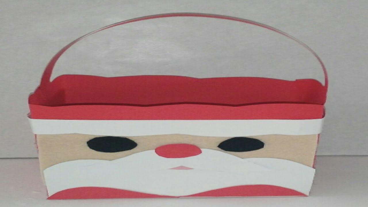 como hacer bolsa de regalo para navidad de papa noel tutorial diy how to box santa