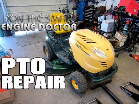 FIX PTO Clutch Problem On Lawn Tractor - MUST SEE VIDEO!