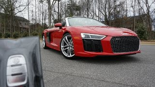 2017 Audi R8 V10 Spyder: Start Up, Exhaust, Walkaround and Review