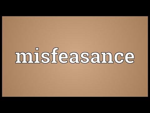 Header of misfeasance