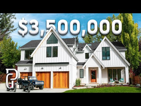 Inside a $3,500,000 Modern Farmhouse in Calgary, Alberta Canada | Propertygrams Mansion Tours