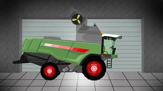 Garage _ Agricultural Machinery | Compilation | Tractor For Kids