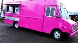 Pink Food Truck Custom Built Catering Kitchen