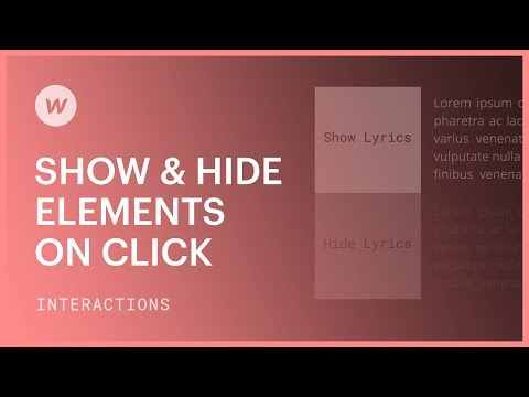 Show & Hide Elements on Click - Webflow interactions and