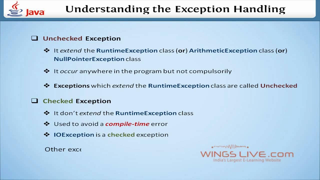 Exception handling in java tutorial pdf image collections any exception handling in java video tutorial images any tutorial exception handling in java java exception handling baditri Gallery