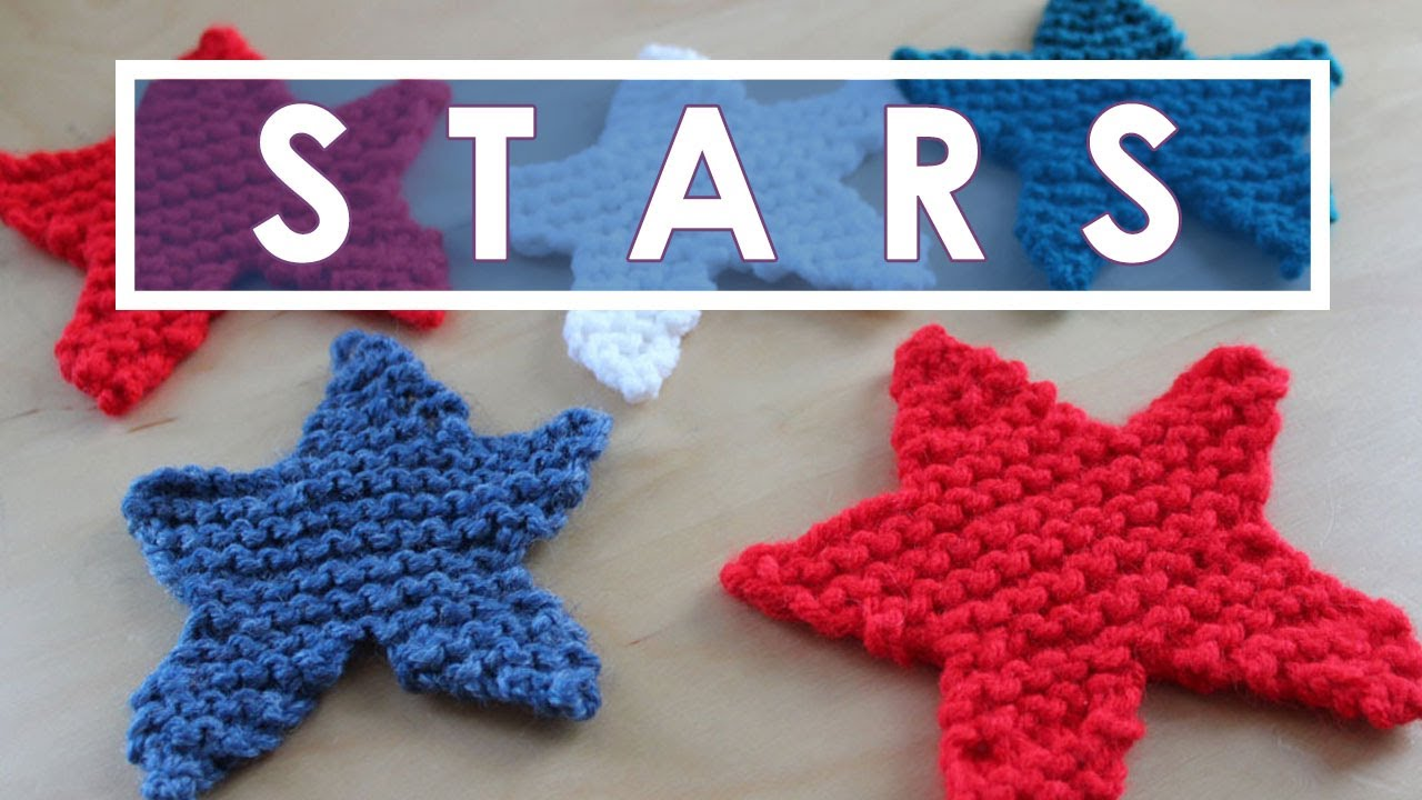 How to Knit a STAR SHAPE | Summer Knit Series - YouTube