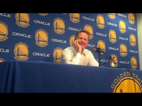 "Head coach Steve Kerr on who the best-dressed Golden State Warrior is: ""Uh, Ron Adams (asst coach)"""