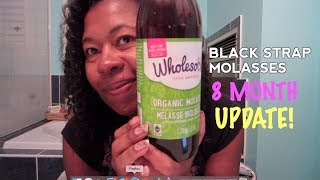 Blackstrap Molasses 8 month update! GREY HAIR REVERSAL UPDATE!