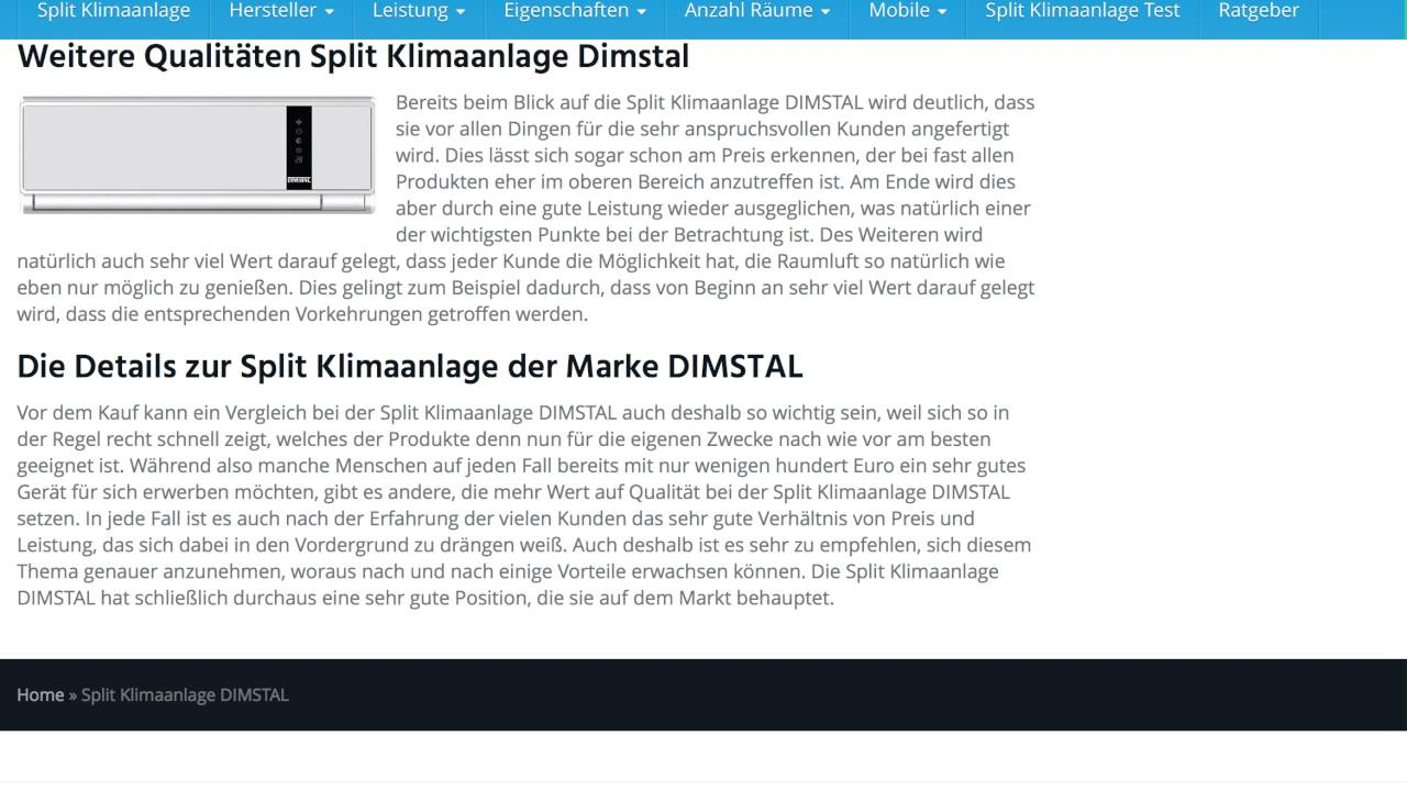 split klimaanlage dimstal split klimaanlagen test youtube. Black Bedroom Furniture Sets. Home Design Ideas
