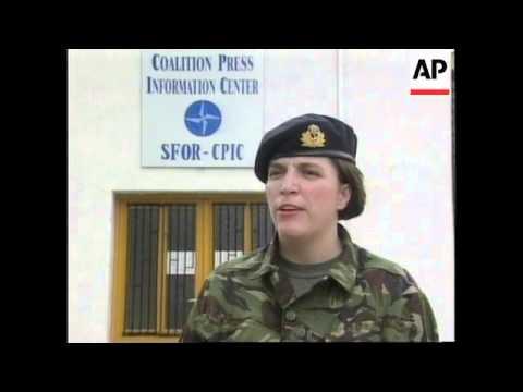 BOSNIA: FORMER BOSNIAN SERB POLICE CHIEF ARRESTED