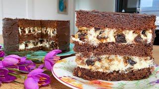 ОН НЕРЕАЛЬНО ВКУСНЫЙ Шоколадныи Торт с Черносливом и Орехами