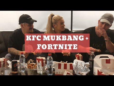AUSTRALIAN KFC MUKBANG + PLAYING FORTNITE FOR THE FIRST TIME (FAIL)